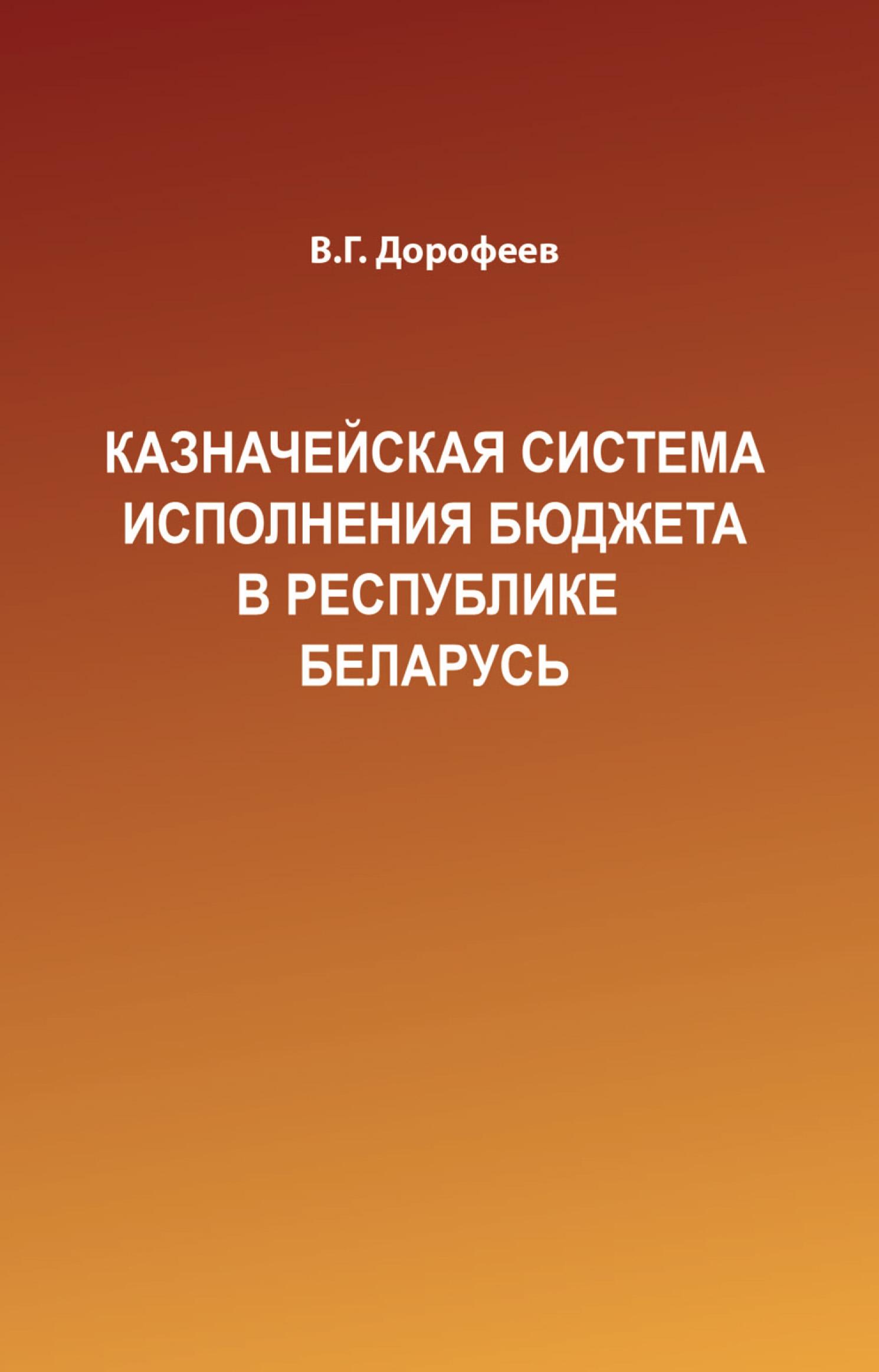Вячеслав Дорофеев «Казначейская система исполнения бюджета в Республике Беларусь»