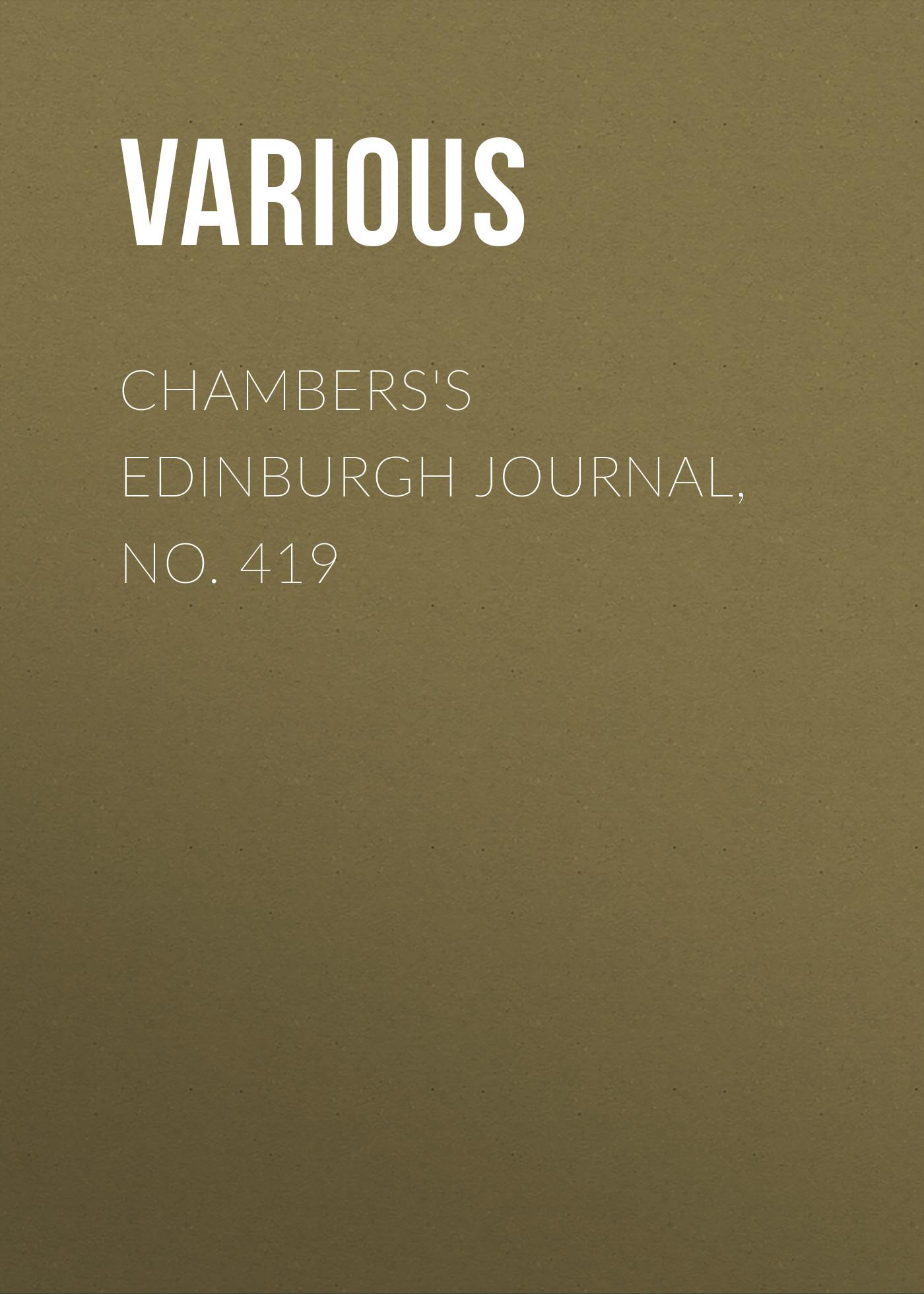 Chambers's Edinburgh Journal, No. 419
