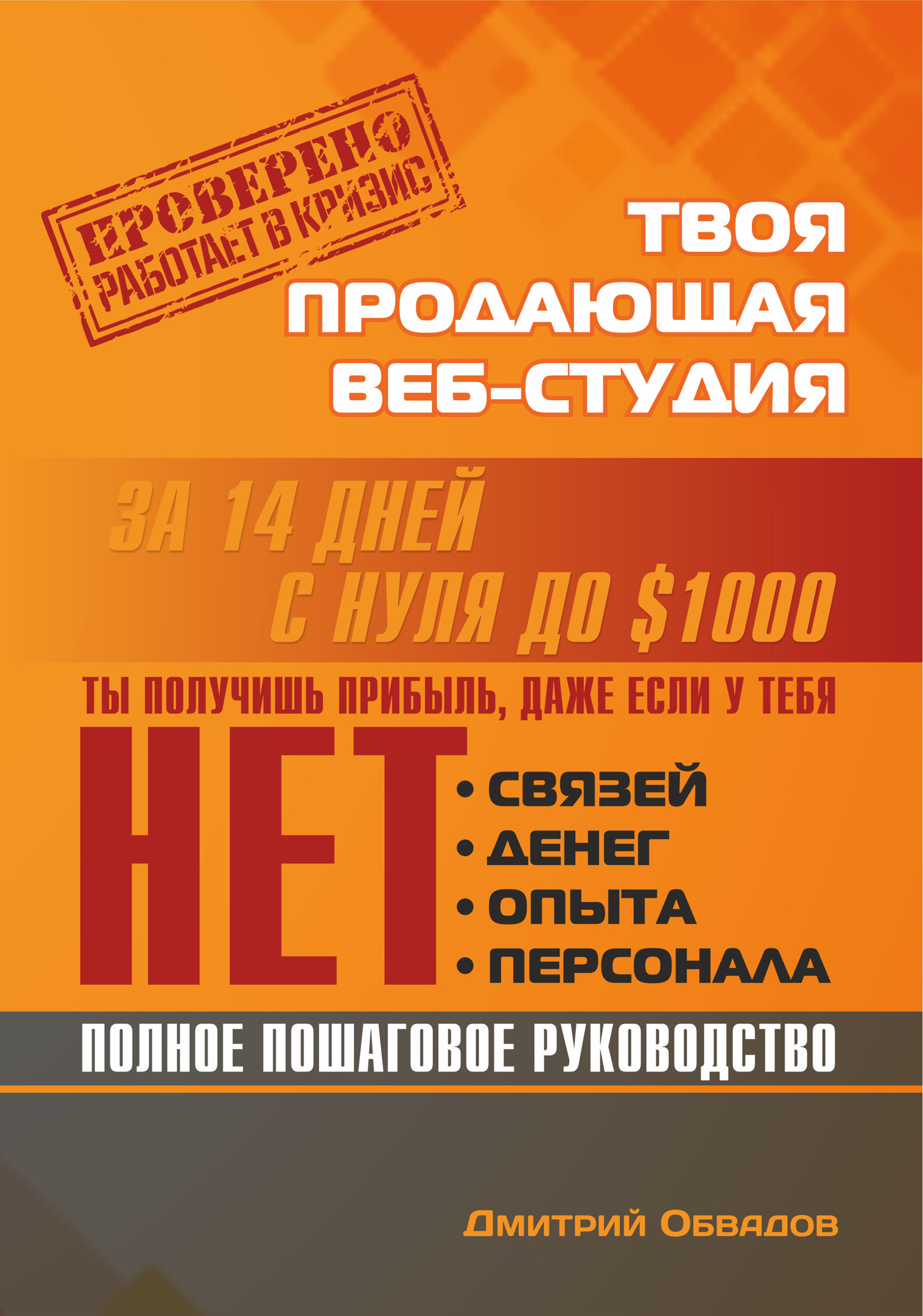 Дмитрий Обвадов Твоя продающая веб-студия за 14 дней | Пошаговое руководство, которое работает в кризис секс через веб камеру онлайн