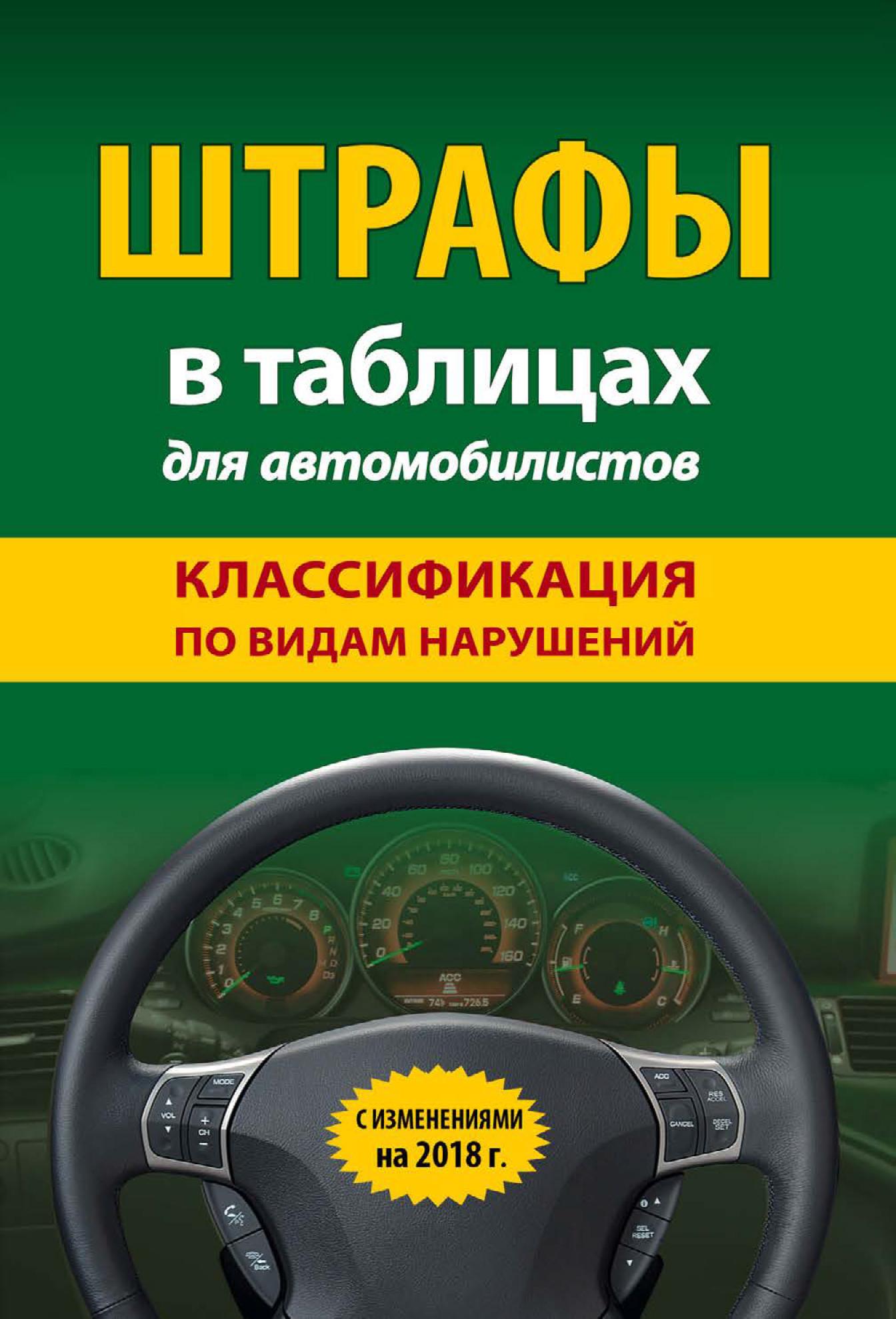Отсутствует Штрафы в таблицах для автомобилистов с изменениями на 2018 год. Классификация по видам нарушений