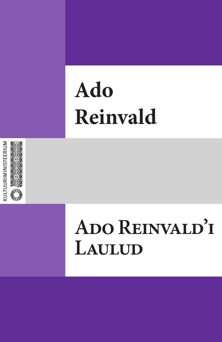 Ado Reinvald Ado Reinvald'i Laulud marie heiberg mure lapse laulud