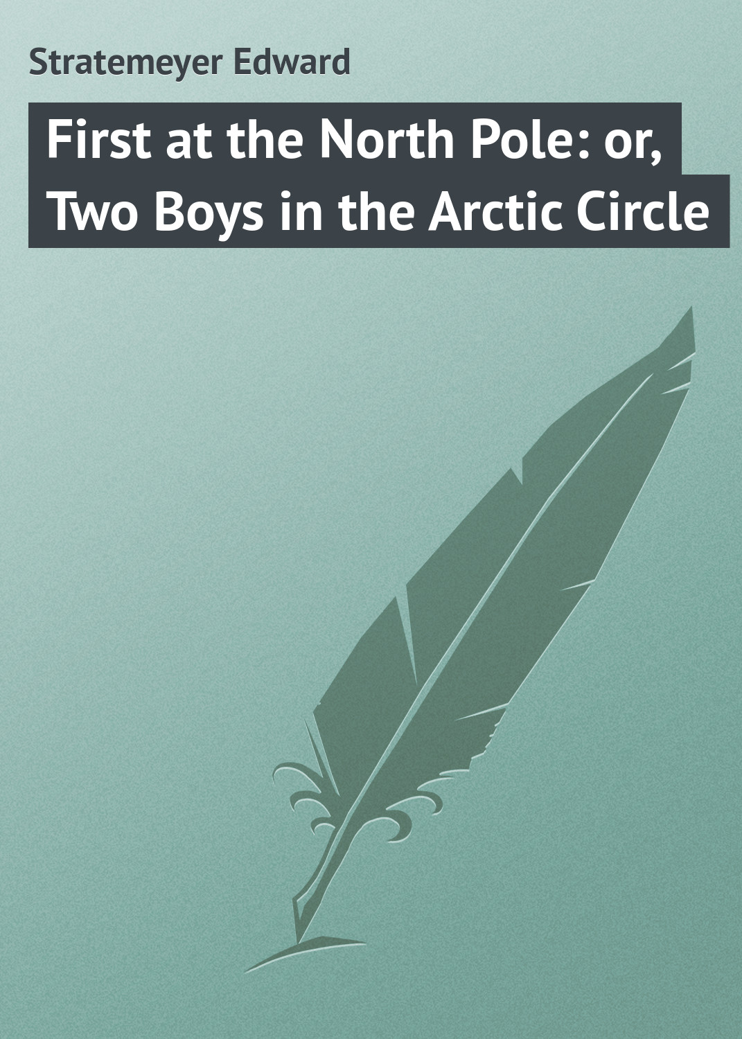 Stratemeyer Edward First at the North Pole: or, Two Boys in the Arctic Circle stratemeyer edward dave porter and the runaways or last days at oak hall