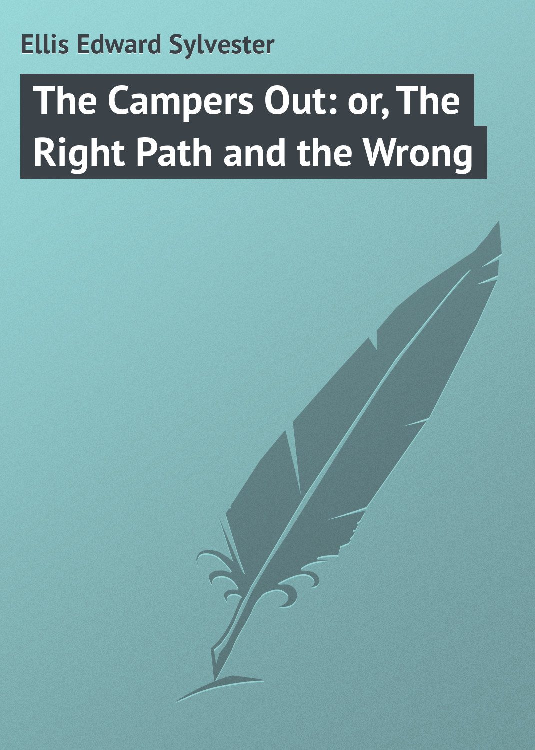 Ellis Edward Sylvester The Campers Out: or, The Right Path and the Wrong the well path