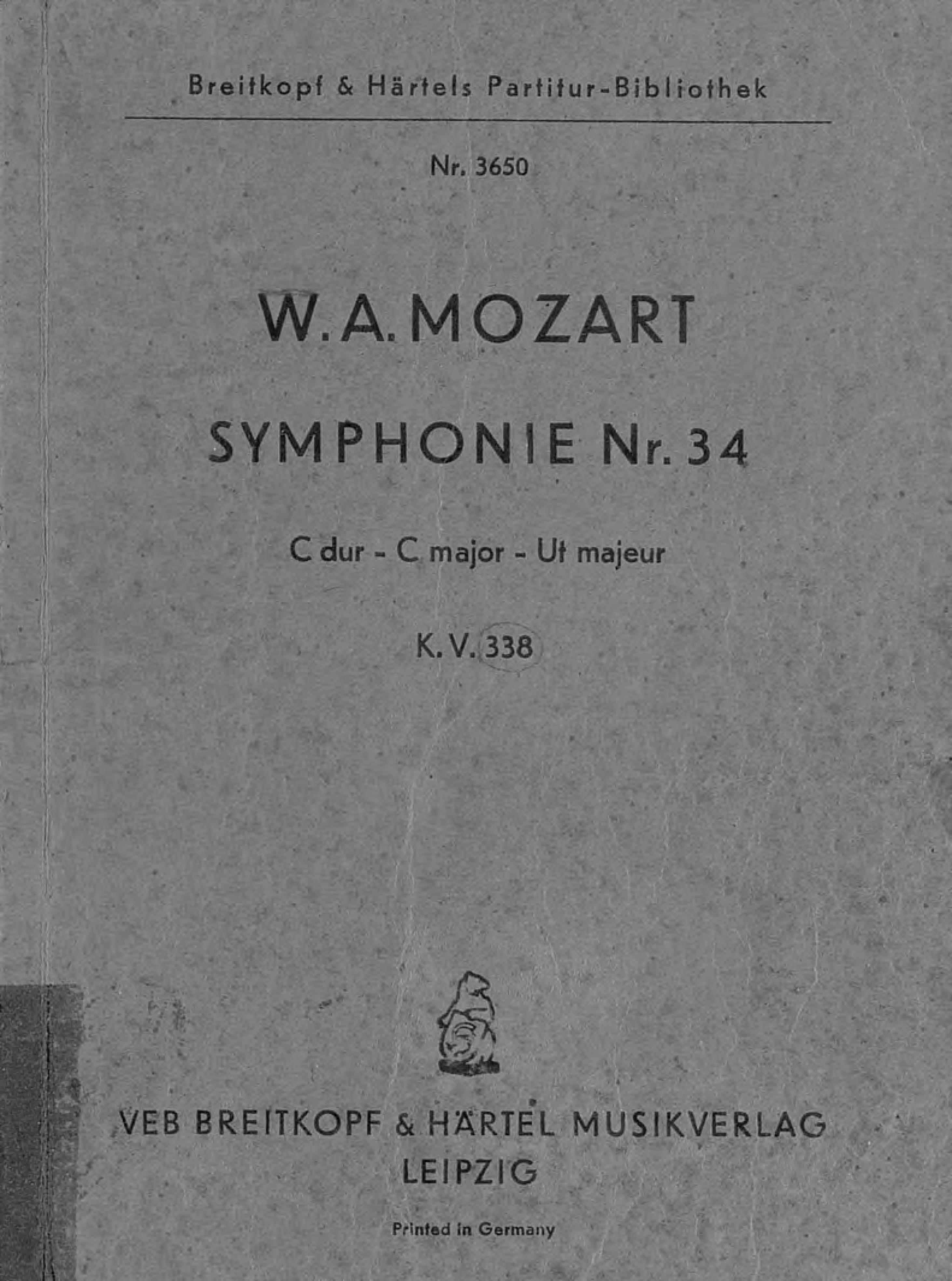 Вольфганг Амадей Моцарт Symphonie № 34 амадей
