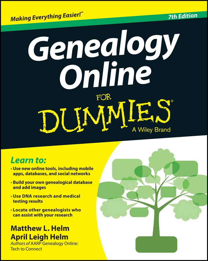 April Helm Leigh Genealogy Online For Dummies how to research