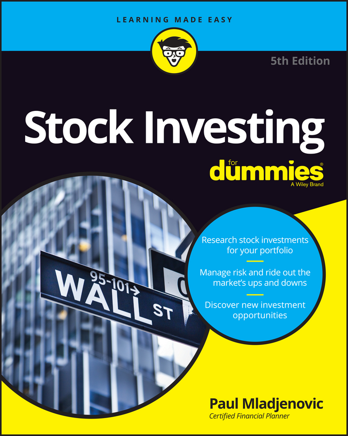 Paul Mladjenovic Stock Investing For Dummies new in stock xws4815