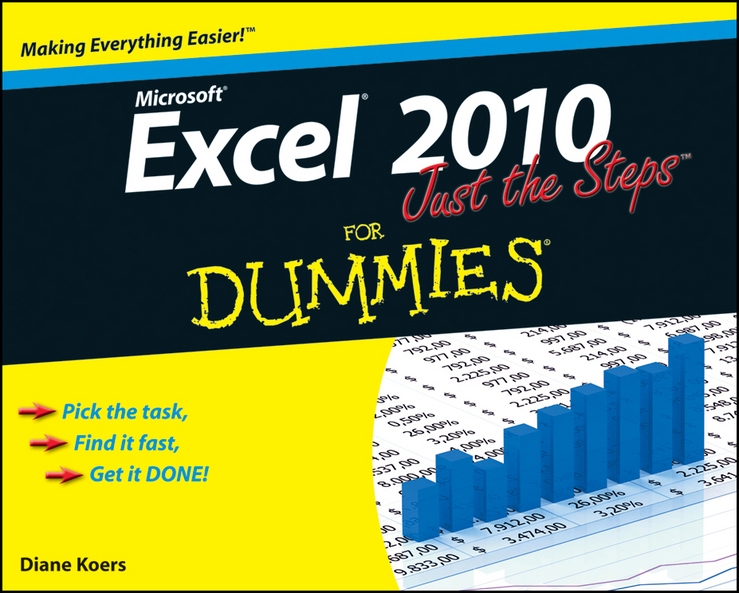 Diane Koers Excel 2010 Just the Steps For Dummies цена 2017