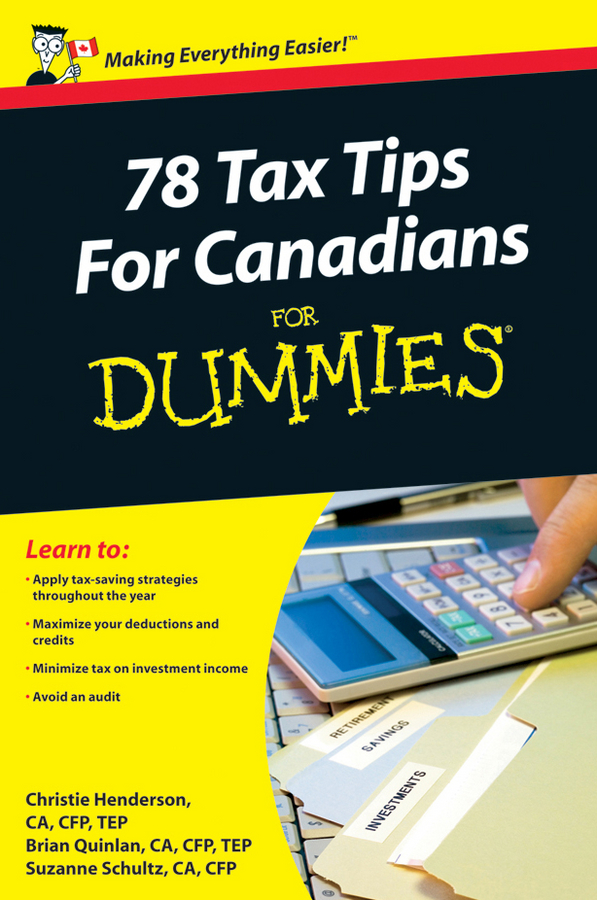 Christie Henderson 78 Tax Tips For Canadians For Dummies tony martin personal finance for canadians for dummies