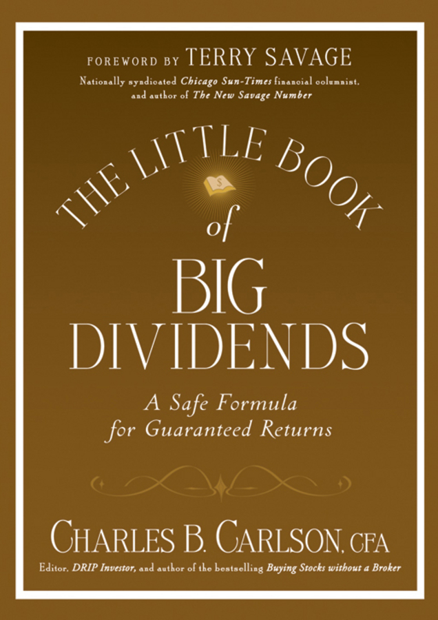 Terry Savage The Little Book of Big Dividends. A Safe Formula for Guaranteed Returns 2pcs car error free 18 led license number plate light white lamp for audi a3 s3 a4 s4 b6 b7 a6 s6 a8 q7