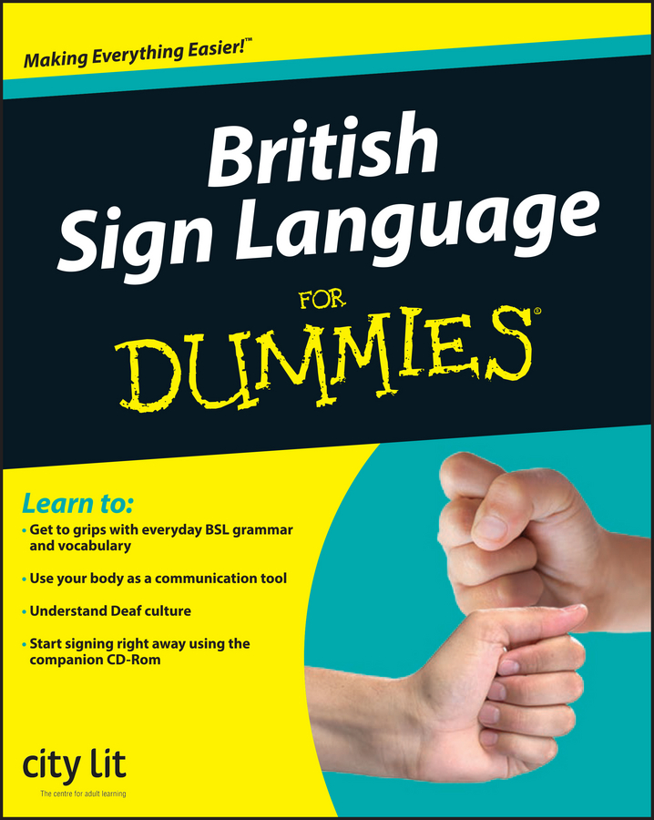 City Lit British Sign Language For Dummies the british isles cd