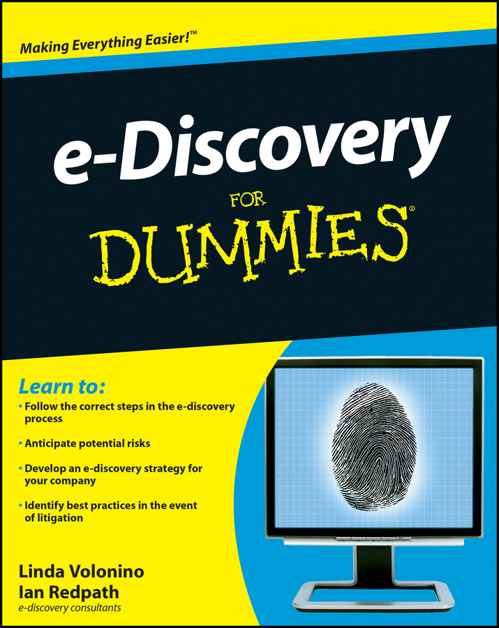 Ian Redpath e-Discovery For Dummies incidence of e coli o157 h7 in fresh juices
