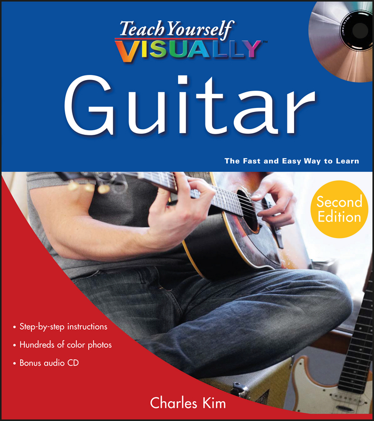 Charles Kim Teach Yourself VISUALLY Guitar dimarzio acoustic model for acoustic guitar and bass black