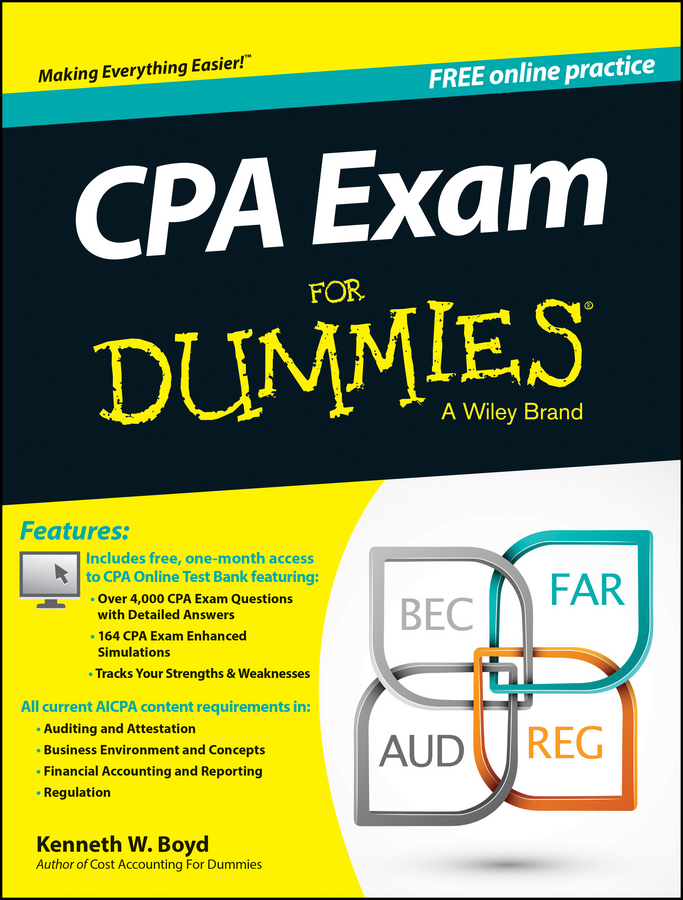Kenneth Boyd W. CPA Exam For Dummies hsieh arthur emt exam for dummies with online practice