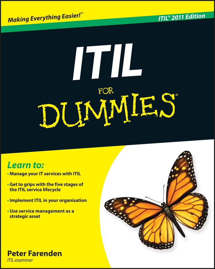 Peter Farenden ITIL For Dummies peter gregory h it disaster recovery planning for dummies