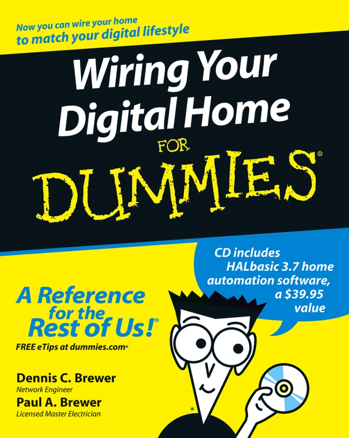 Paul Brewer A. Wiring Your Digital Home For Dummies quad band gsm sms home burglar security alarm system w detector sensor kit remote control