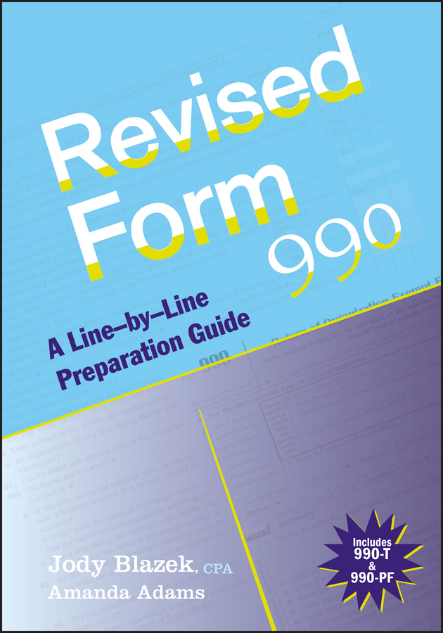 Jody Blazek Revised Form 990. A Line-by-Line Preparation Guide new and original zd 70n optex photoelectric switch photoelectric sensor npn output