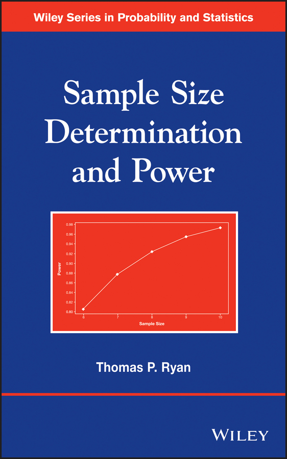 Thomas Ryan P. Sample Size Determination and Power