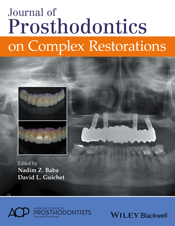 Nadim Baba Z. Journal of Prosthodontics on Complex Restorations attanasio ronald dental management of sleep disorders