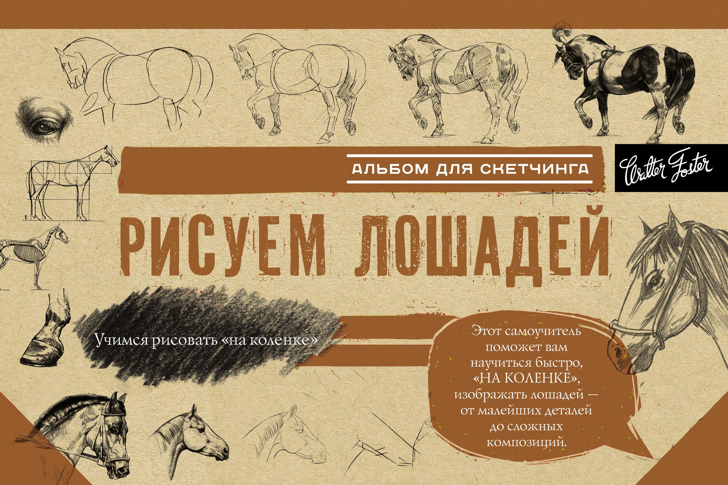 Коллектив авторов Рисуем лошадей. Альбом для скетчинга цена и фото