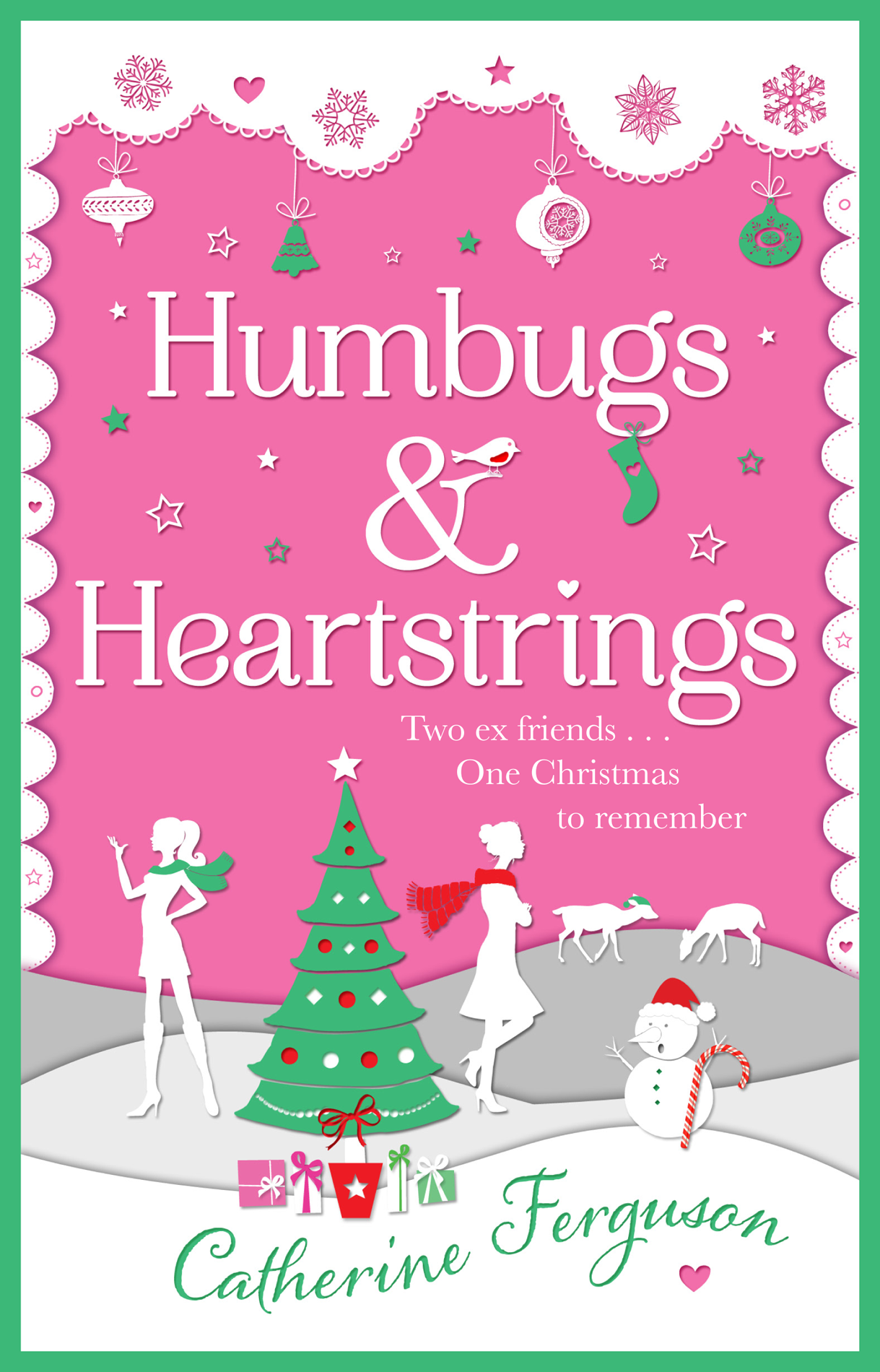 Catherine Ferguson Humbugs and Heartstrings: A gorgeous festive read full of the joys of Christmas! festive christmas snowman figure toy doll yellow white