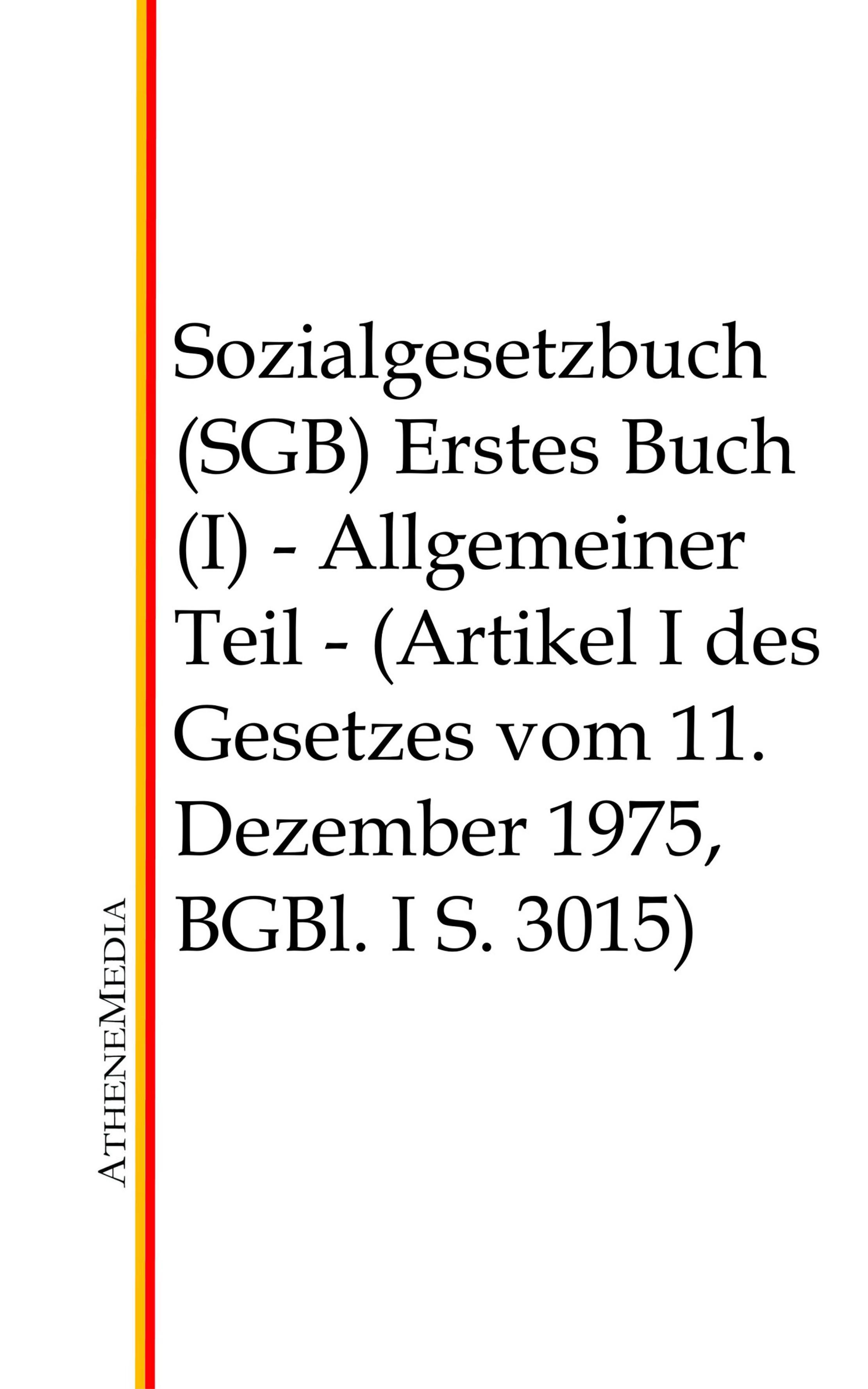 Отсутствует Sozialgesetzbuch (SGB) - Erstes Buch (I) deutschland sozialgesetzbuch sgb neuntes buch ix – rehabilitation und teilhabe behinderter menschen