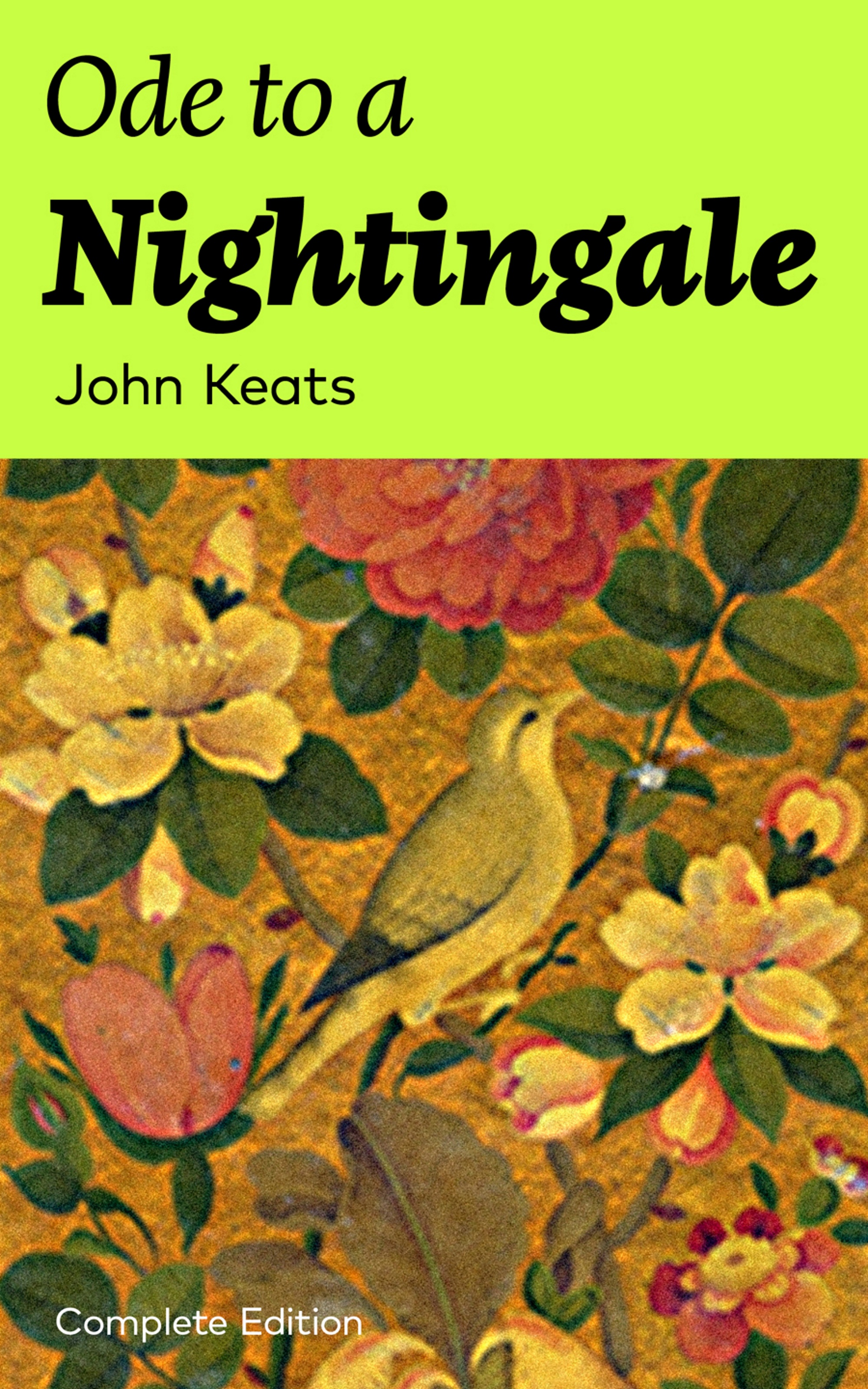 John Keats Ode to a Nightingale (Complete Edition) complete poems and selected letters of john keats