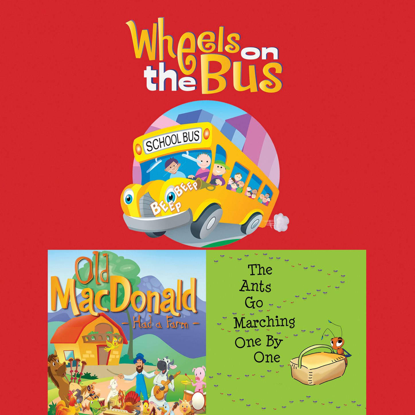 Frankie O'Connor Wheels On The Bus / Old MacDonald Had a Farm / The Ants Go Marching One By One (Unabridged) peppa pig the wheels on the bus board book