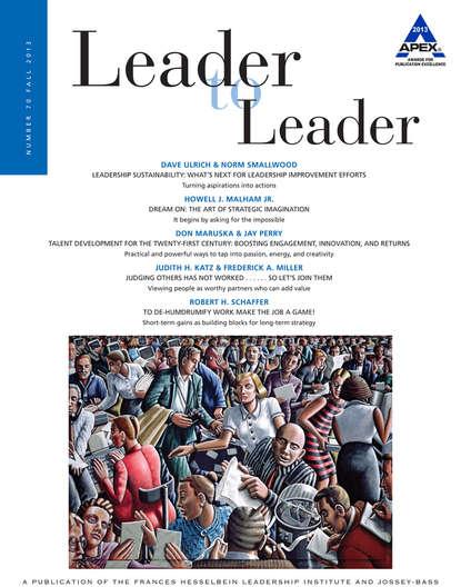 Frances Institute Hesselbein Leadership Leader to Leader (LTL), Volume 70, Fall 2013 недорого