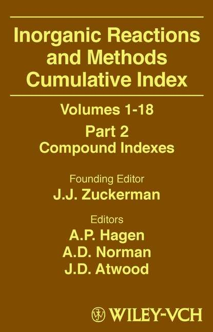 A. Norman D. Inorganic Reactions and Methods, Cumulative Index, Part 2 journal of the royal microscopical society volume 2nd ser v 2 pt 2 1882