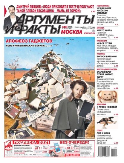 Аргументы и Факты Москва 11-2021