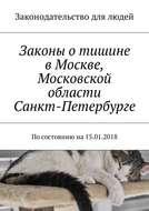 Законы о тишине в Москве, Московской области, Санкт-Петербурге. Посостоянию на15.01.2018