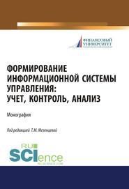 Формирование информационной системы управления: учет, контроль, анализ