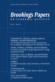 Brookings Papers on Economic Activity: Fall 2019