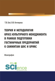 Теория и методология кросс-культурного менеджмента в рамках подготовки гостиничных предприятий к саммитам ШОС и БРИКС