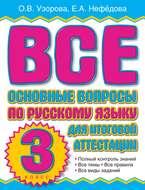 Все основные вопросы по русскому языку для итоговой аттестации. 3 класс